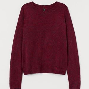 NEW H&M Red Heather Knit Sweater